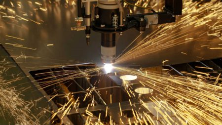 Industrial equipment with sparks